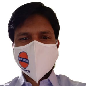 Indian Oil Petrol Pump Face Mask